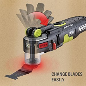 The Rockwell Hyperlock Blade changing system allows you to change blades